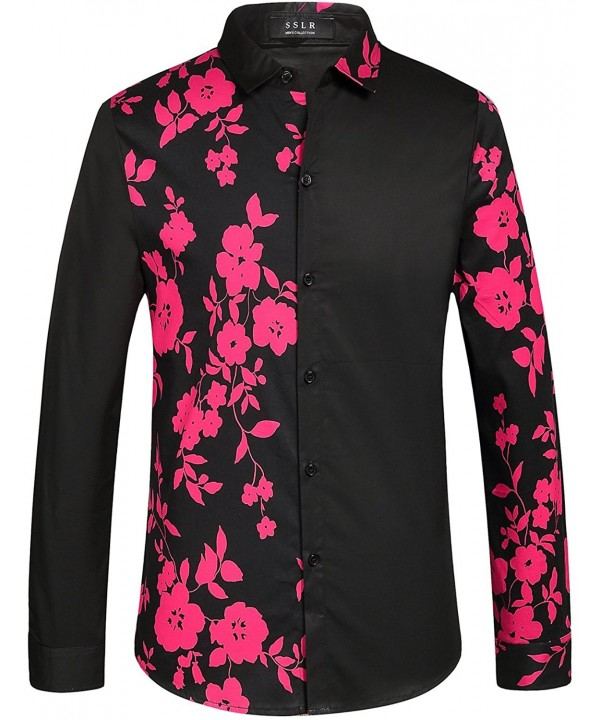 SSLR Flowered Casual Sleeve Button