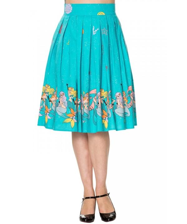 Banned Sophia Mermaids Pleated Turquoise