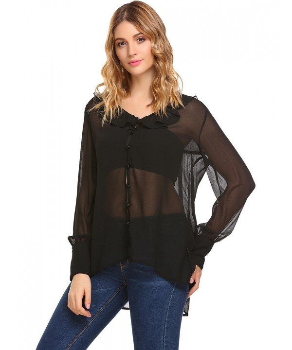 ThinIce Women Sleeve Blouse Asymmetric Hem Top