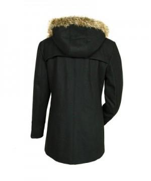 bdb4f1eda Women's AS709 Duffy Wool Coat Fur Trim Hooded Parka Jacket - Black -  C311Q9FOW33