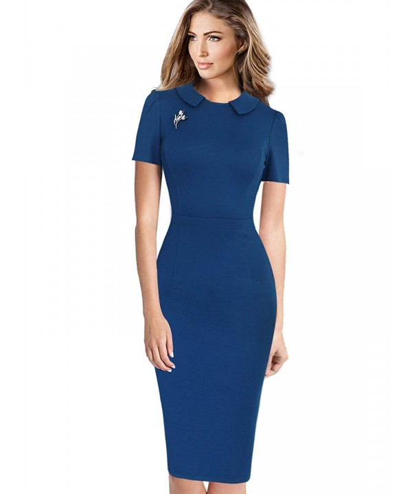 VfEmage Elegant Vintage Business Bodycon