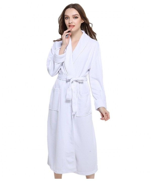 Unisex Terry Cloth Robe Hotel Spa Bathrobe Kimono Robes - White ... 061a08d41