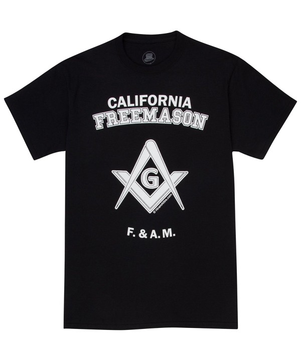 HiramAttire Masonic T Shirt Freemason California