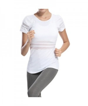 Tulucky Womens Patchwork Running T Shirt