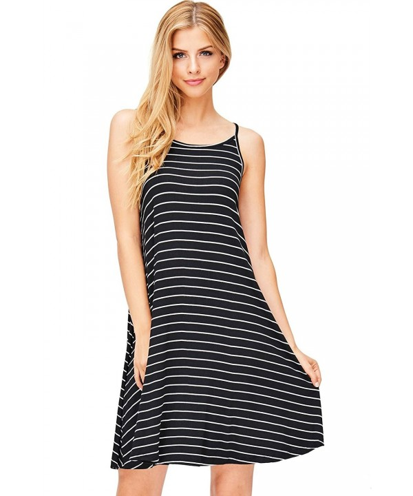 Ambiance Womens Striped Skater Dress