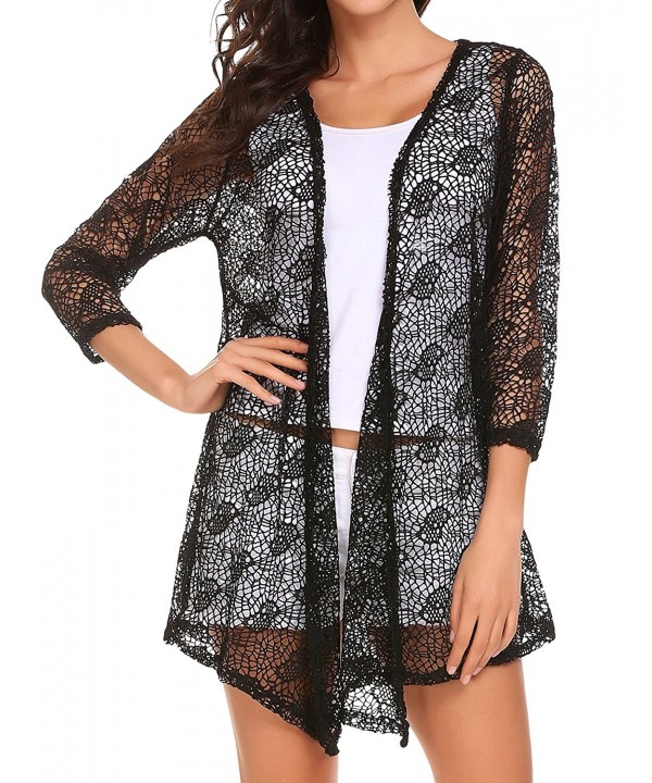 Elesol Womens Crochet Cardigan Sleeve