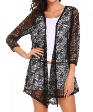 Elesol Womens Crochet Cardigan Sleeve