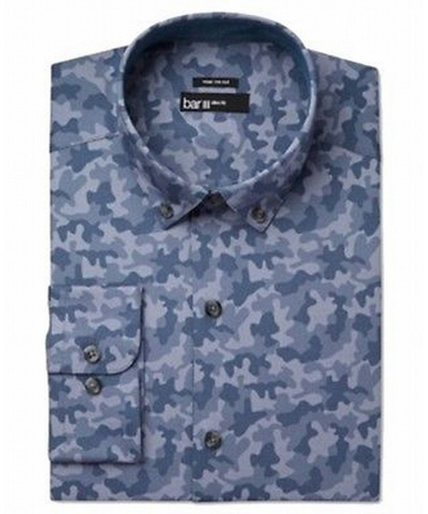Bar III Camouflage Dress Shirt