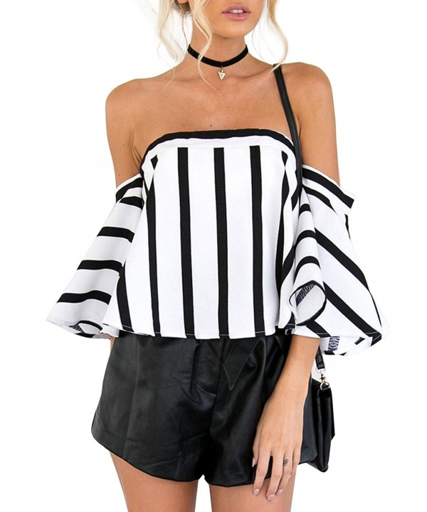 Glamaker Chiffon Shoulder Stripped Sleeves