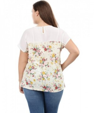 197f2d7f Agnes Orinda Women's Plus Size Dolman Sleeve Print Shirt Sheer ...