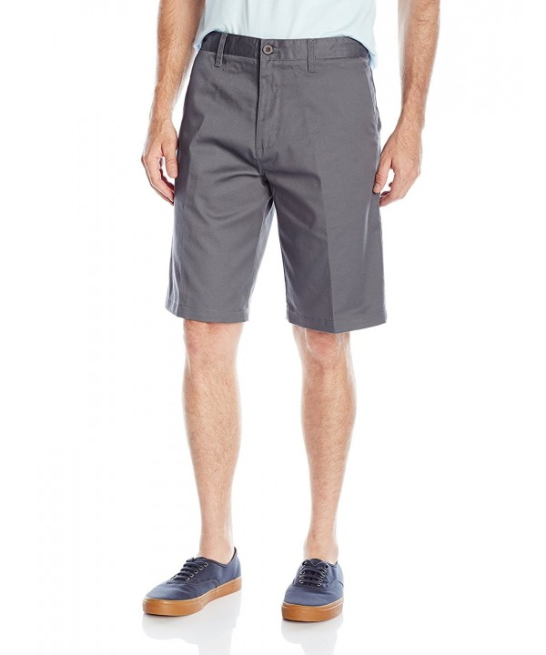 Burnside Daily Flat Front Chino Charcoal