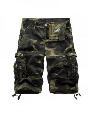 Hakjay MensSummer Multi Pocket Shorts Dark camouflage 30