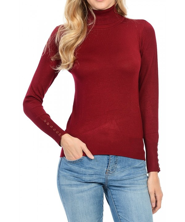 YourStyle Sleeve Turtle Sweater 63 Burgundy