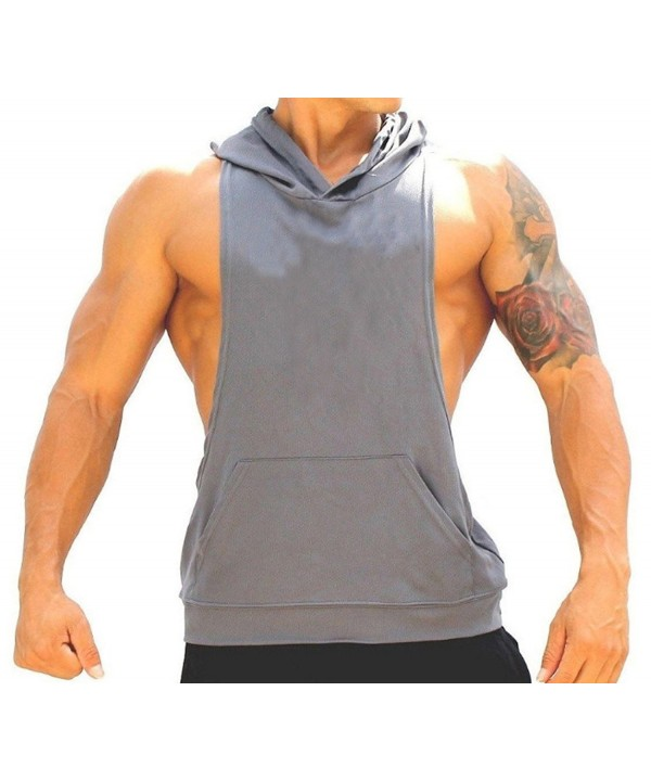 Manstore Sleeveless Hooded Cotton Hoodies