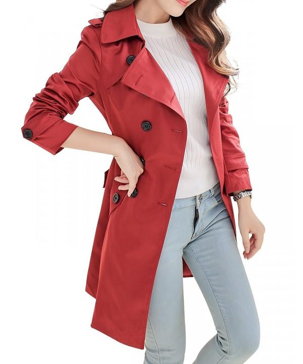 NANJUN Breasted Tailoring Overcoat burgundy