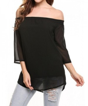 Elover Womens Shoulder Oversized Elegant