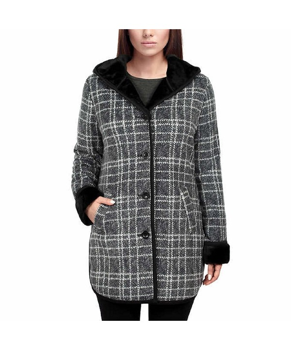 Ike Behar Ladies Hooded Charcoal