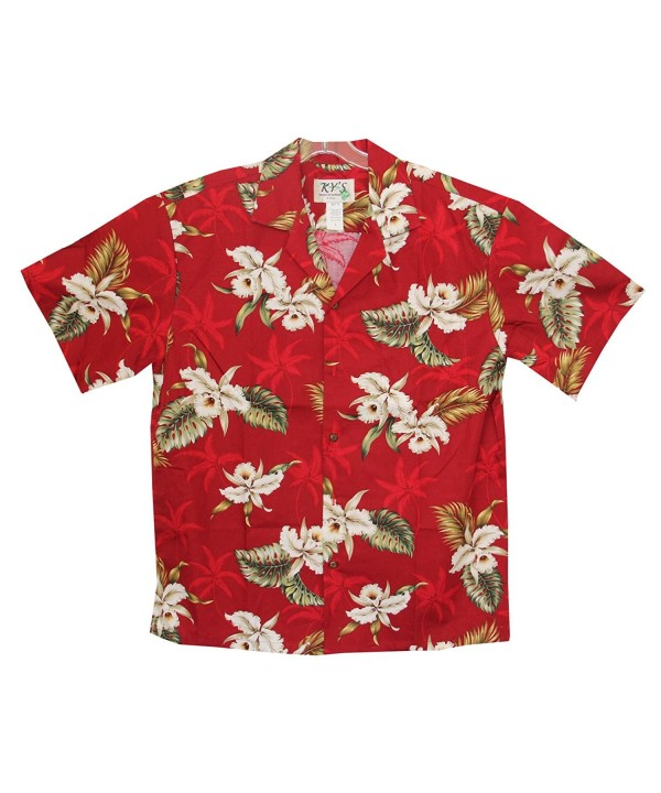 Orchid Flowers Hawaiian Aloha Shirt