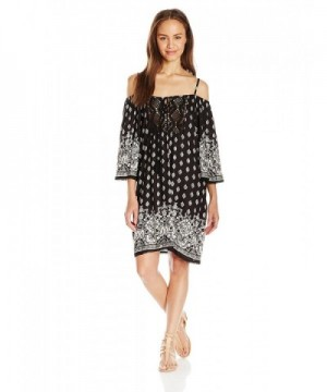 Angie Womens Shoulder Printed Dress