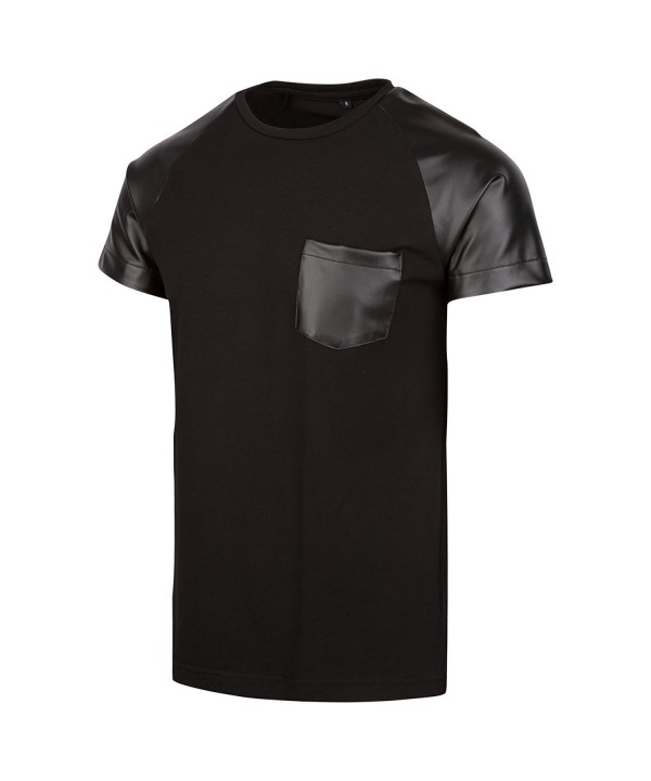 Level Leather T Shirt X Large Black