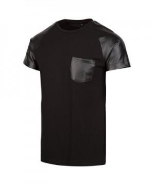 Level Leather T Shirt X Large Black