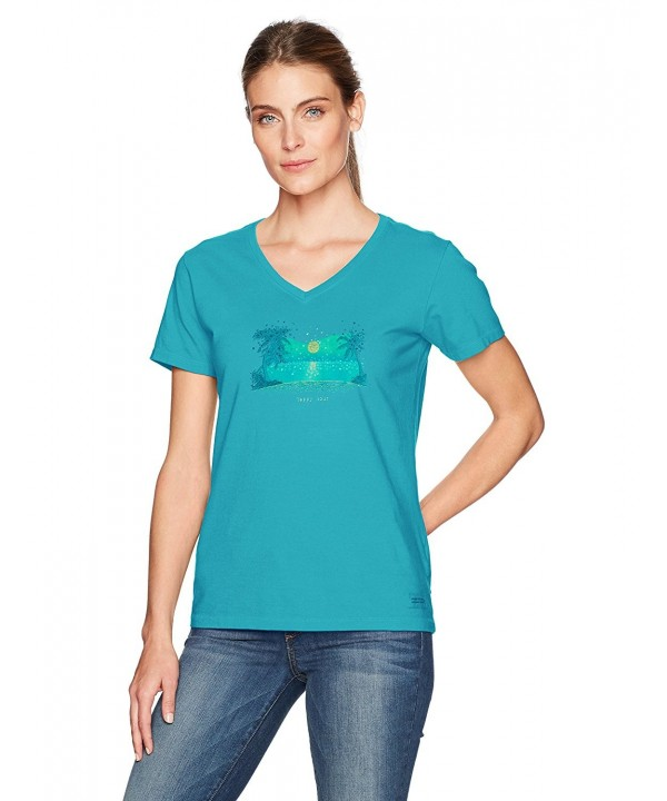 Life Good Crusher T Shirt Turquoise