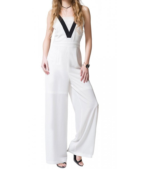 Chifave Womens Spaghetti Sleeveless Jumpsuits
