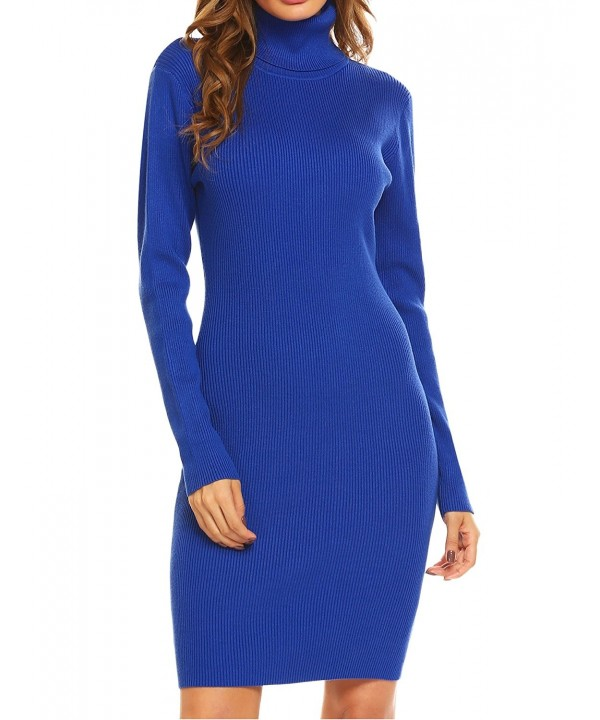ODlover Sleeve Turtleneck Bodycon Sweater