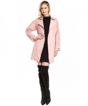 FANCO Womens Duster Suede Trench