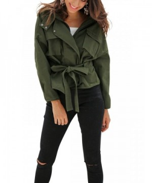 Glamaker Womens Short Trench Jacket