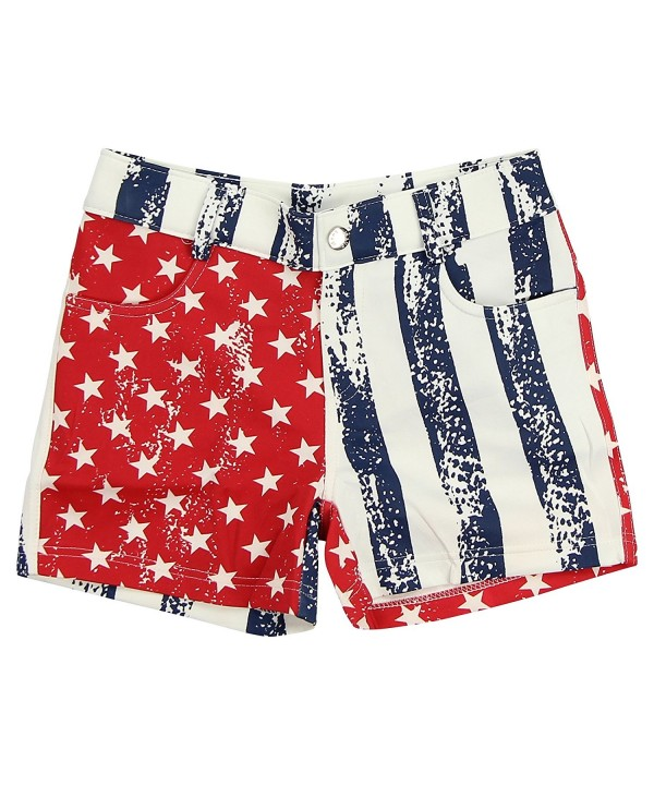 Women s USA Flag Patriotic Jegging Shorts - light - CZ12EM68QBJ 86d6a3038e