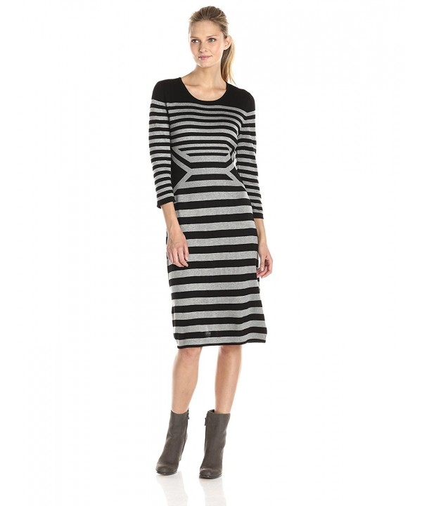 Gabby Skye Womens Stripe Sweater