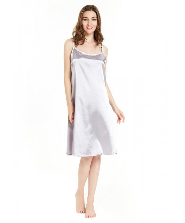 Satin Nightgown Women Chemise Spaghetti