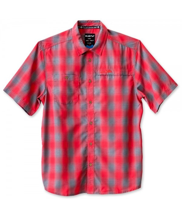 KAVU Wakeley Button Shirts Cardinal