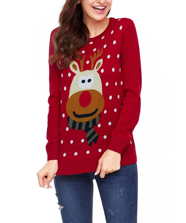 Sidefeel Holiday Pullover Christmas Reindeer