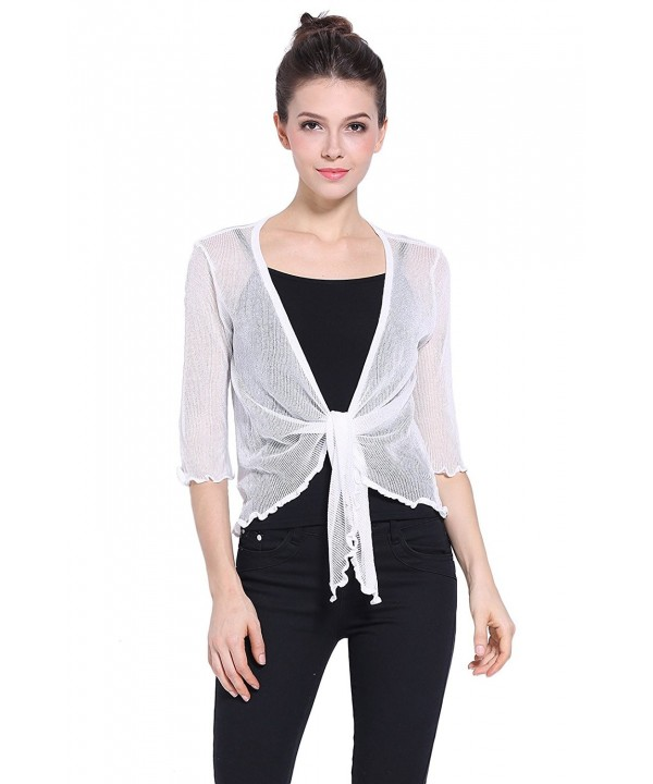 Sofishie Lightweight Sheer Shrug White