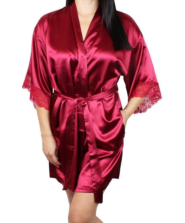 Womens Satin Kimono Bridesmaid Sleeves