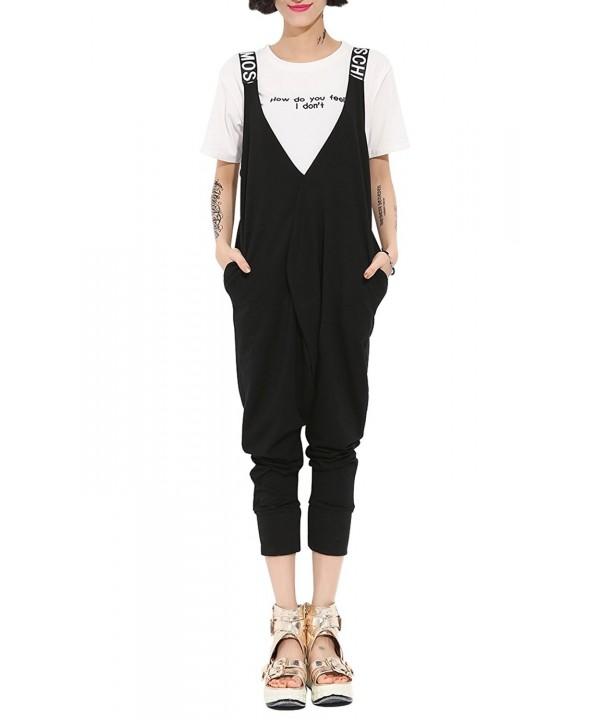 ELLAZHU Jumpsuit Overalls GY673 Black