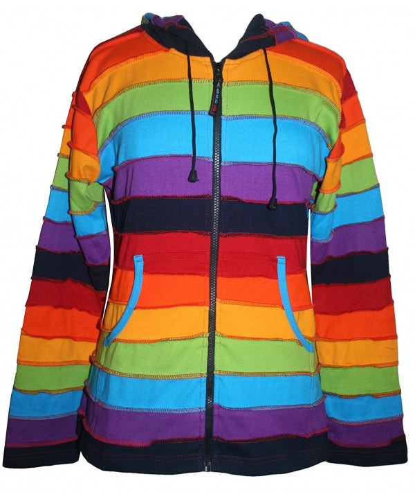 Agan Traders Rainbow Cotton Hoodie