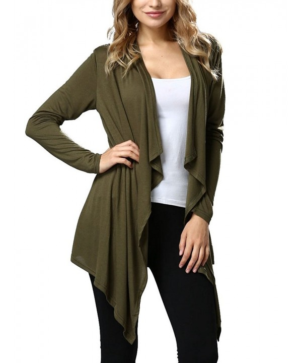 LeaLac Womens Mid Long Cardigan Sweater