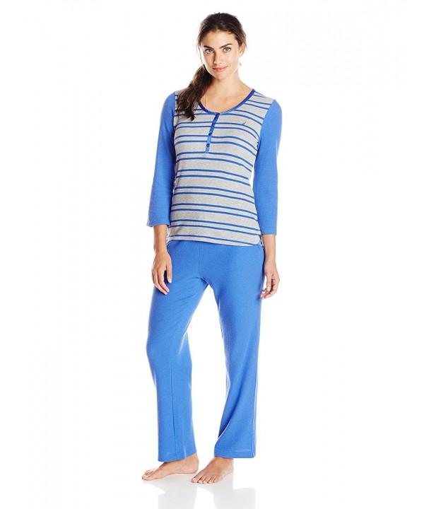 Nautica Sleepwear Womens Waffle Coast