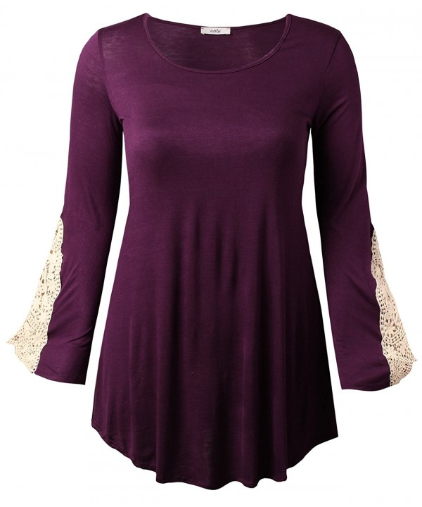 Evelie Womens Sleeve Blouse 2X Large