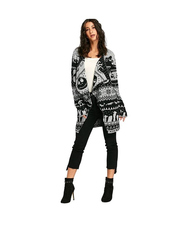 LANGSTAR Halloween Sweaters Cardigan X Large