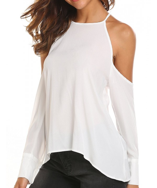 Casual Sleeve Shoulder Chiffon Blouse