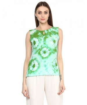 Jaipur Kurti Womens Print Green