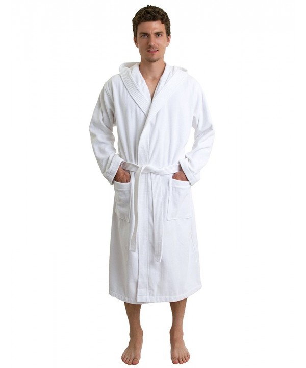 TowelSelections Hooded Velour Cotton Bathrobe