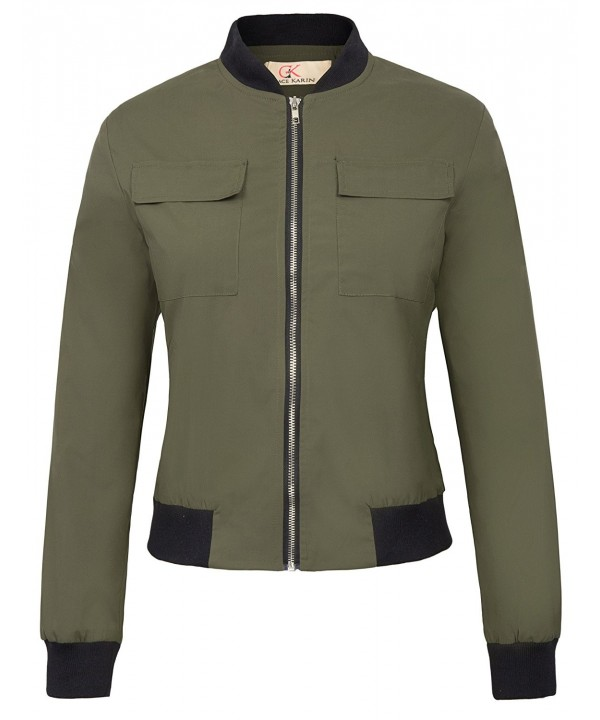 Classic Multi Pocket Bomber Jacket Green