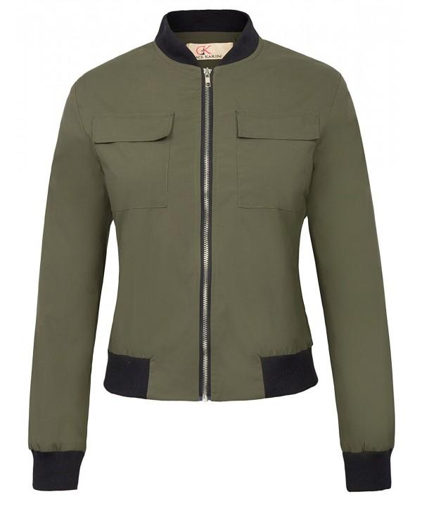 Classic Multi Pocket Bomber Jacket Green
