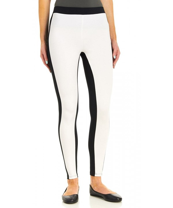 Hue Womens Colorblock Illusion Leggings