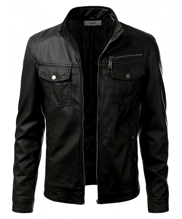 iDarbi Leather Skinny Motorcycle Bomber